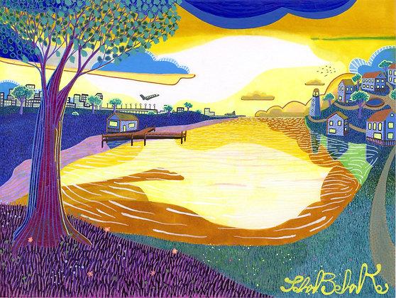 """""""Lake at Dusk"""" by John Behnke"""