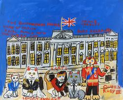 """Ruby Cat Visits Buckingham Palace"" by Ruby Bradford"