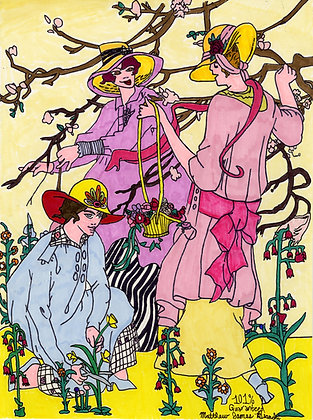 """Gathering Flowers"" by Matthew Bianchi"