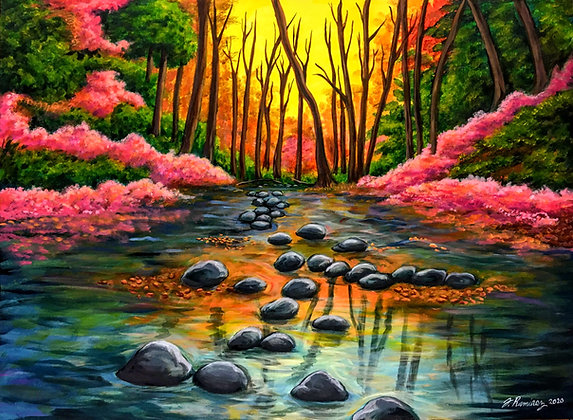 """Sunset by the Stream"" by Fernando Ramirez"