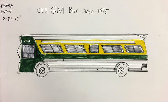 """CTA GM Bus Since 1975"" by Ricky Willis"