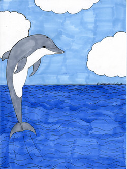"""""""Dolphin Leaping"""" by Jacqueline Cousins Oliva"""
