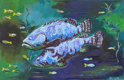 """Pair of Fish"" by David Hence"