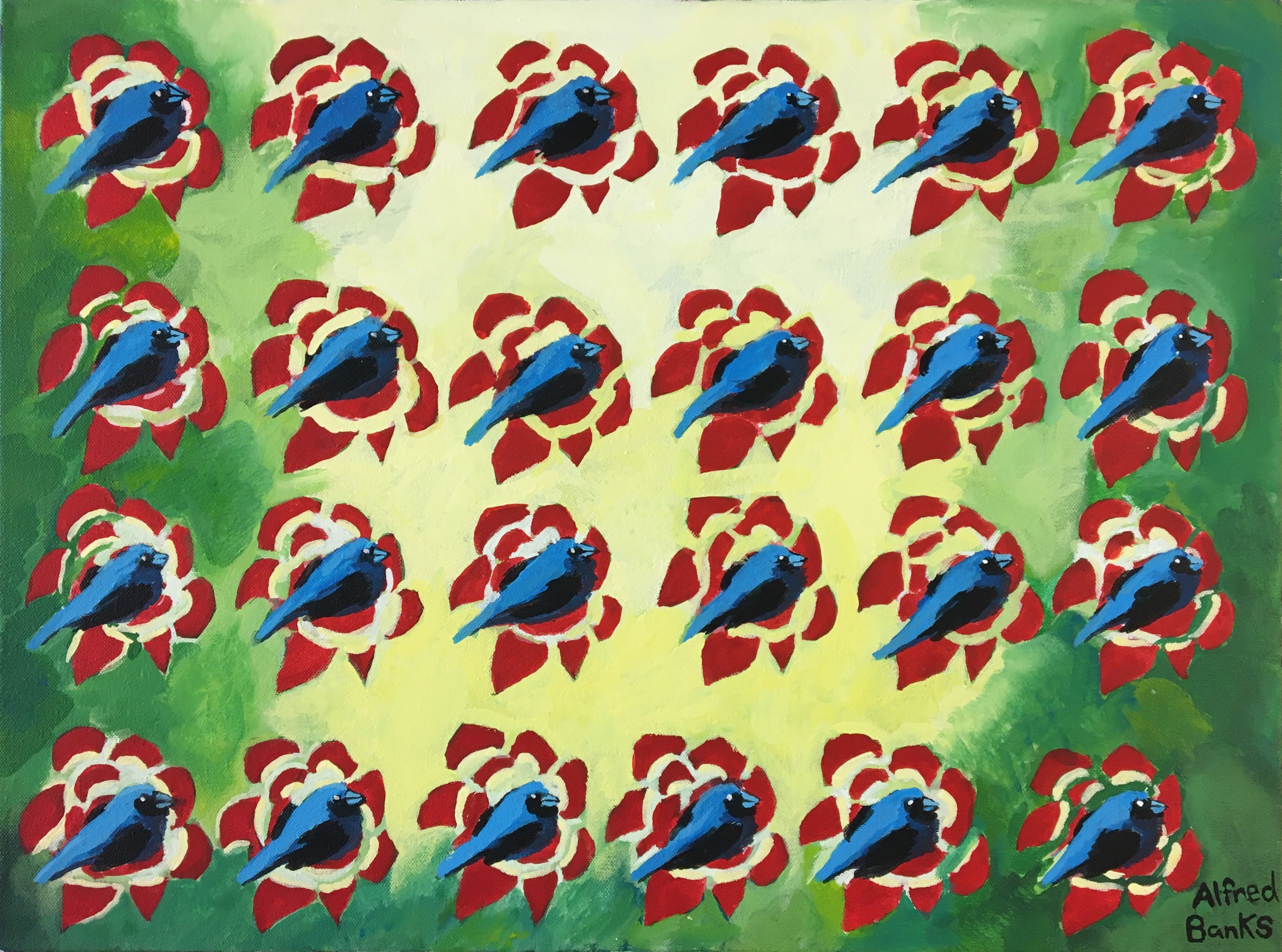 """""""Bird Pattern"""" by Alfred Banks"""