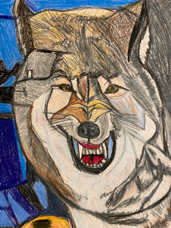 """""""Viscous Wolf"""" by George Zuniga"""