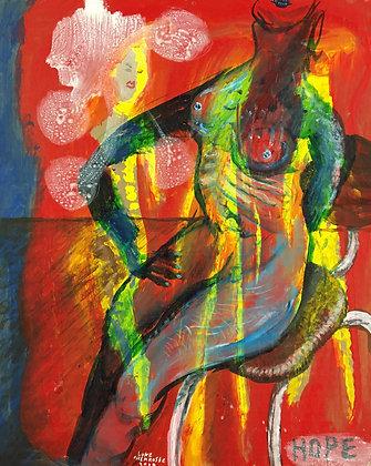 """""""Figure in Chair"""" by Luke Shemroske"""