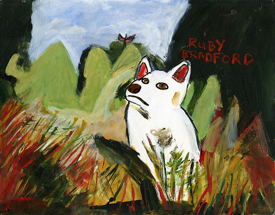 """Dog Meets Butterfly"" by Ruby Bradford"
