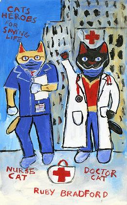 """""""Cat Heroes"""" by Ruby Bradford"""