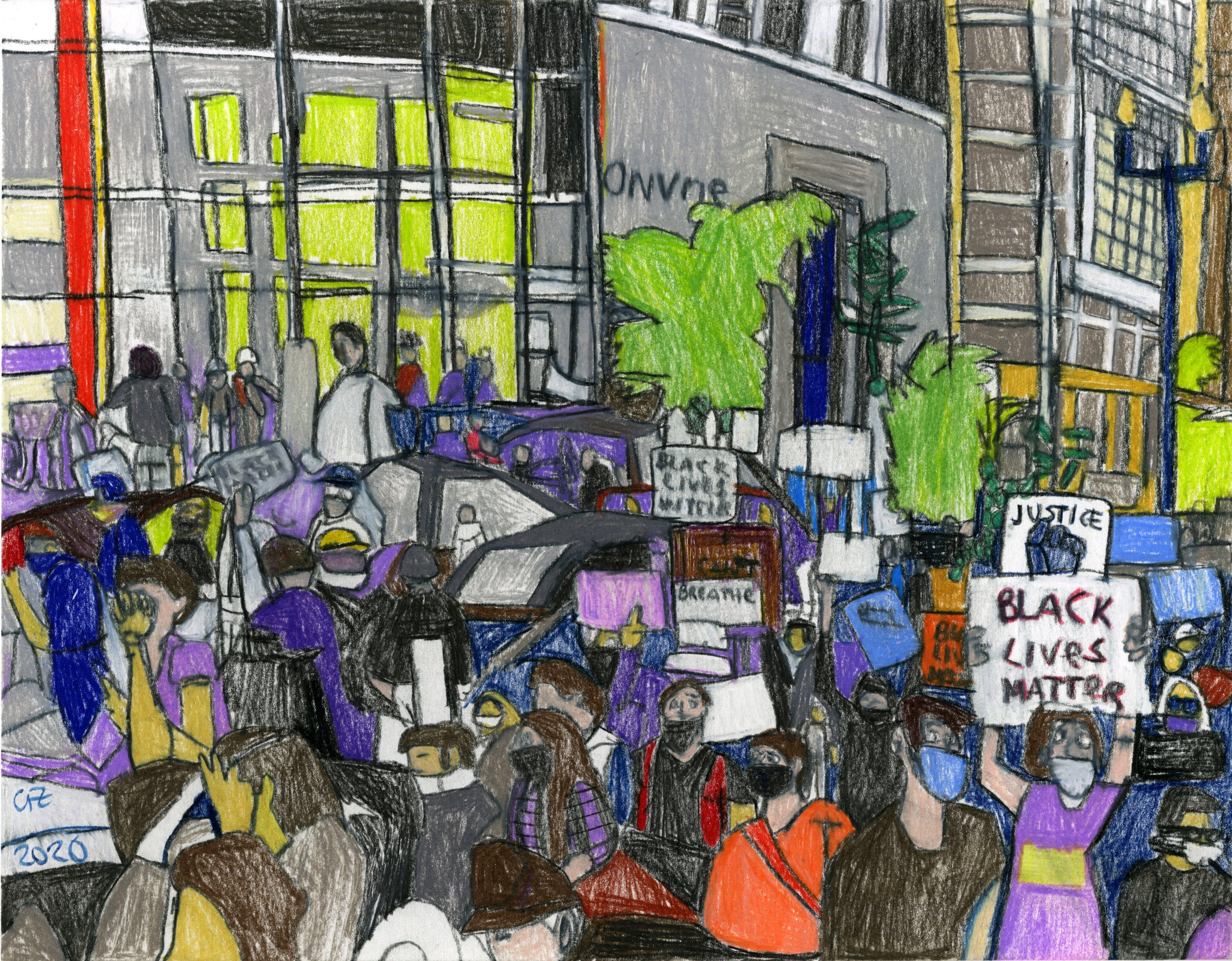 """BLM Protest"" by George Zuniga"