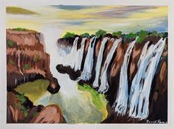 """Victoria Falls in Zimbabwe"" by David Hence"