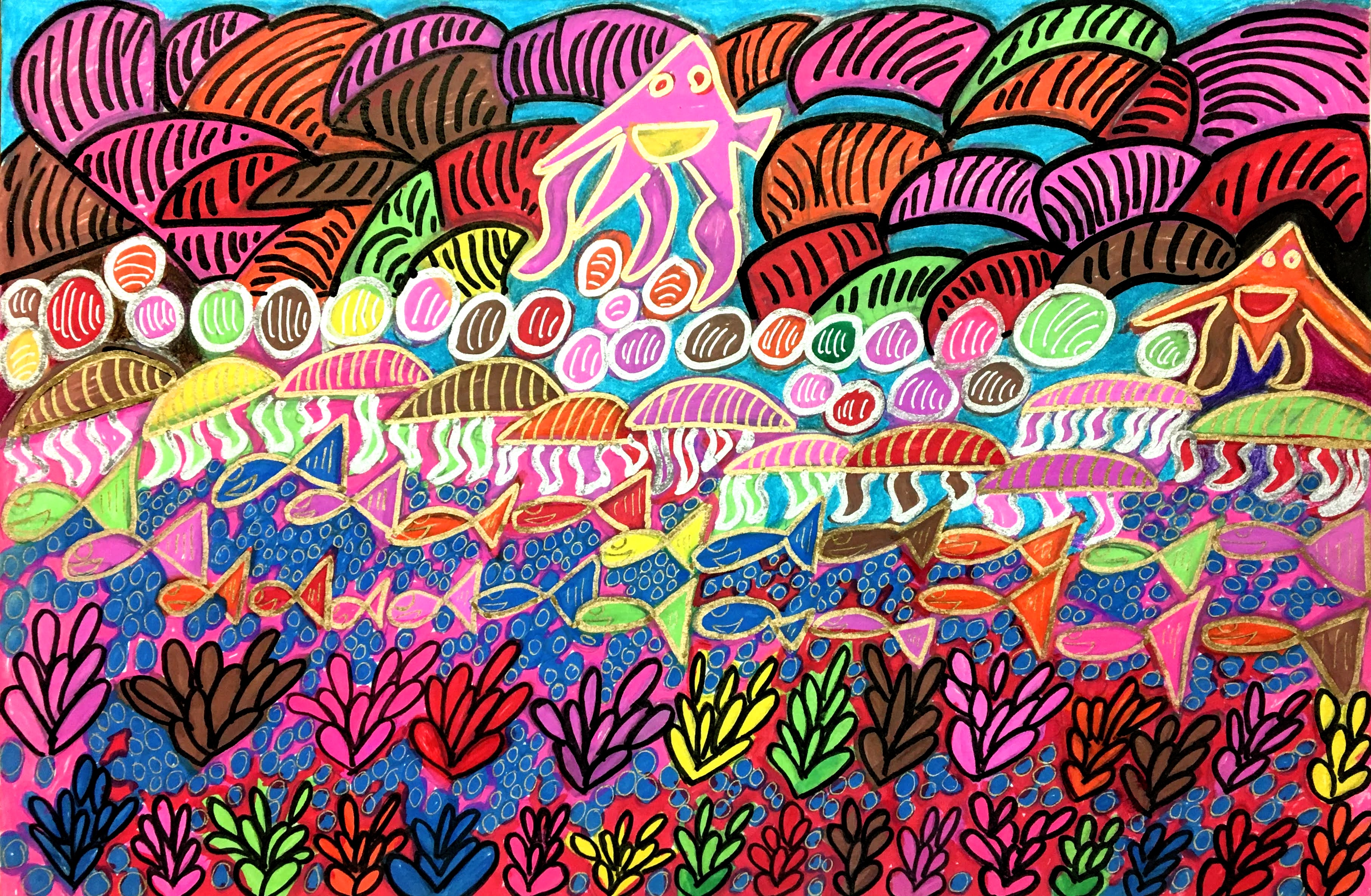 """""""Colorful Creatures of the Sea"""" by Safiya Hameed"""