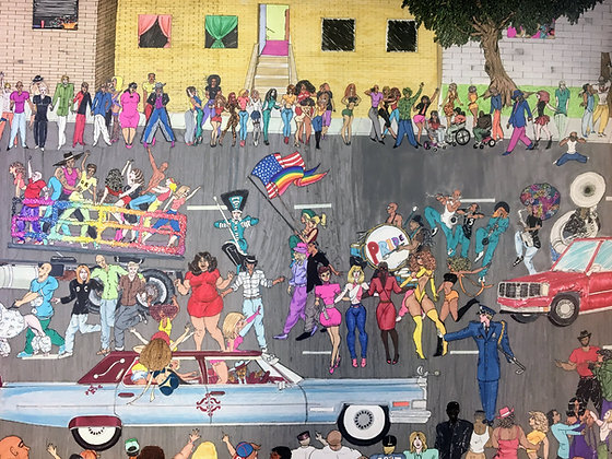 """""""Gay Pride Parade"""" by Tony Davis"""