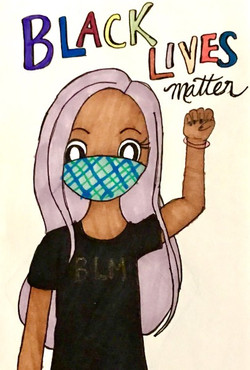 """""""BLM Protester"""" by Dana Baker"""