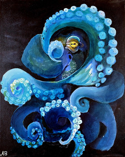 """""""Blue Octopus"""" by Alfred Banks"""
