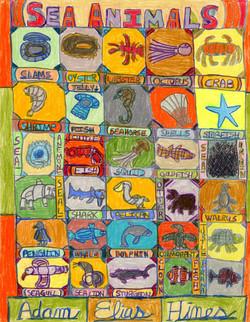 """Sea Animals"" by Adam Hines"