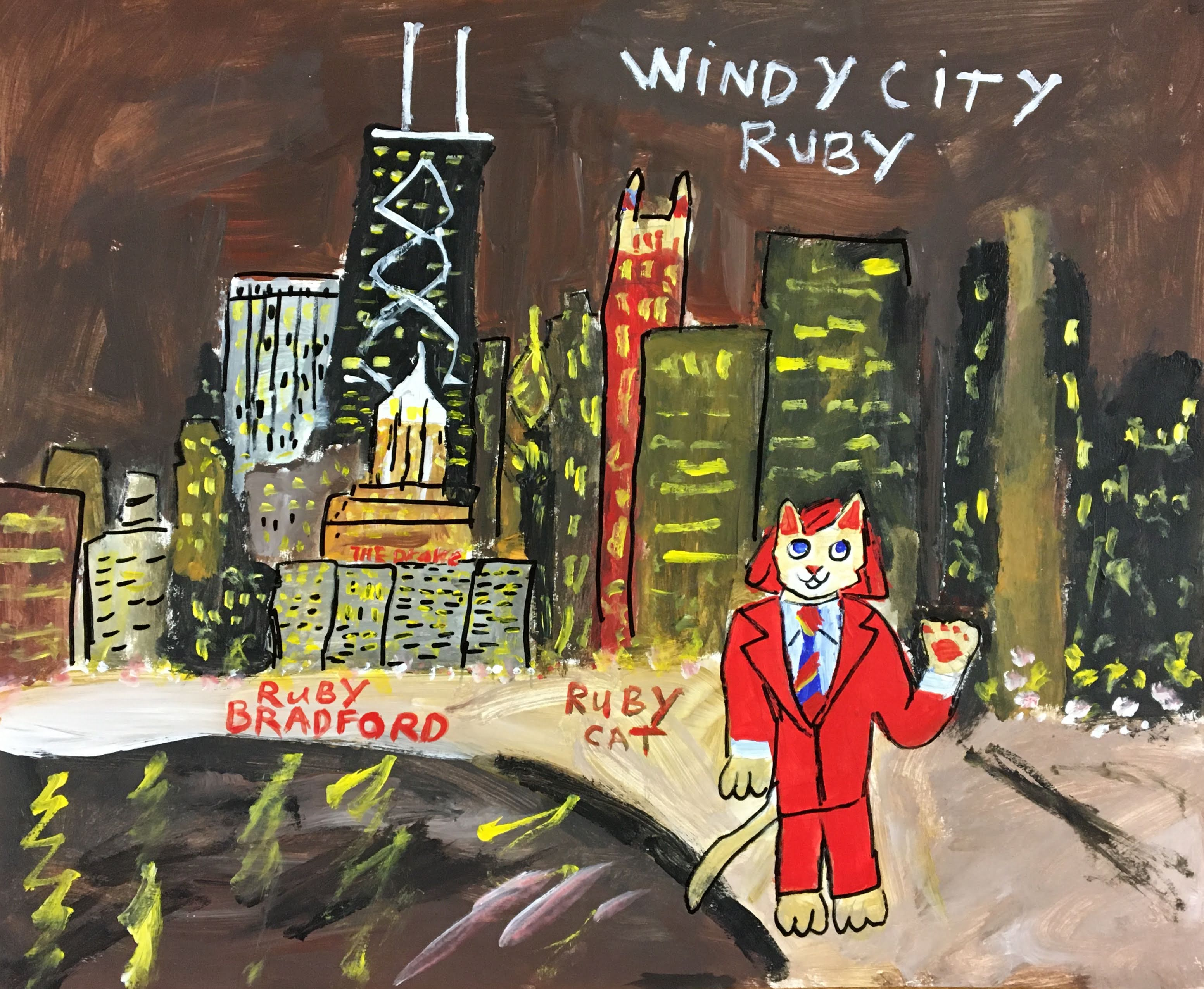 """Windy City Ruby Cat"" by Ruby Bradford"