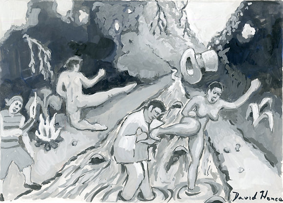 """Black Pebble 8"" by David Hence"