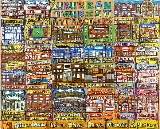 """""""Suburban Tourist Attractions"""" by Adam Hines"""