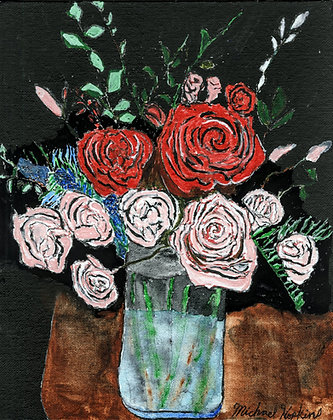 """""""Roses in a Vase"""" by Michael Hopkins"""