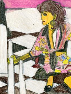 """Woman in Kimono"" by George Zuniga"