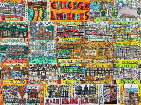 """Chicago Landmarks"" by Adam Hines"