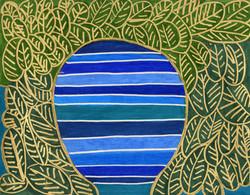 """""""Leaves on River"""" by Safiya Hameed"""