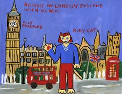 """""""Ruby Cat Visits Big Ben"""" by Ruby Bradford"""