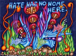 """Hate Has No Home Underwater"" byJames Hall"