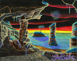 """Illuminated Cave"" by John Behnke"