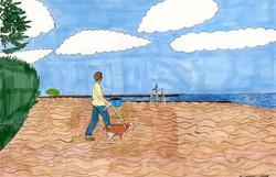 """Pandemic Walk"" by Jacqueline Cousins Oliva"