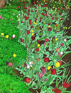 """""""Bed of Tulips"""" by RJ Juguilon"""