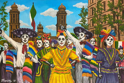 """""""Day of the Dead in Mexico City"""" by Fernando Ramirez"""