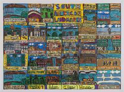 """South American Landmarks"" by Adam Hines"