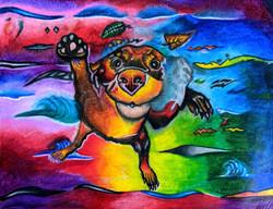 """Underwater Dog"" by Dijon Barrett"