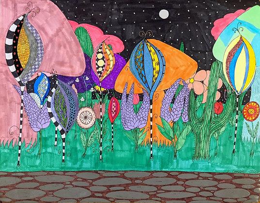 """""""Fantasy Garden""""by Jacqueline Cousins Oliva"""