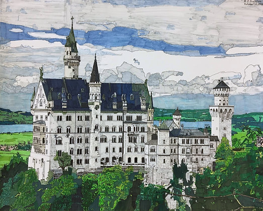 """Neuschwanstein Castle"" by R. J. Juguilon"