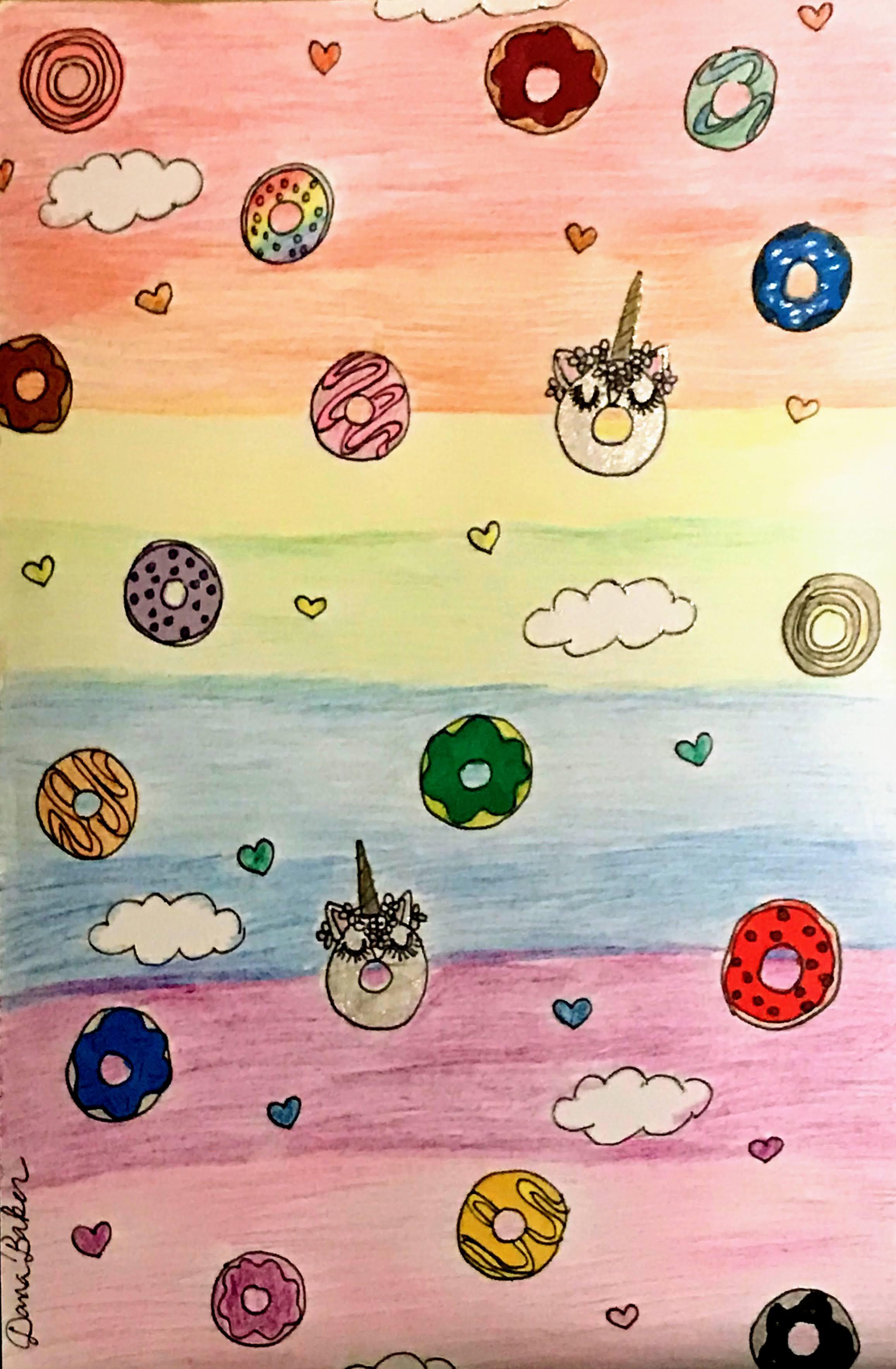 """Unicorn Donuts"" by Dana Baker"