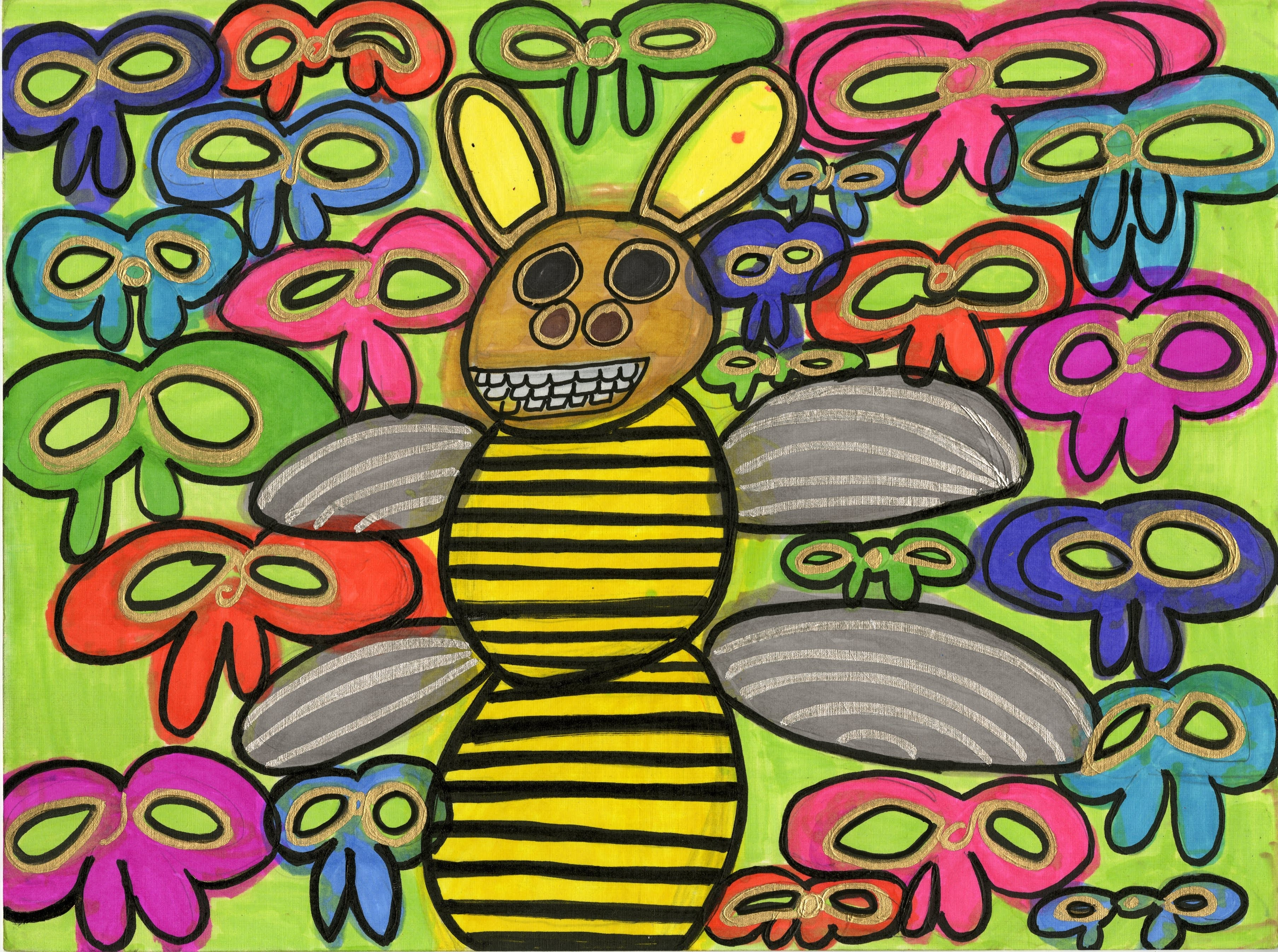 """""""Ribbons Bumble Bee"""" by Safiya Hameed"""