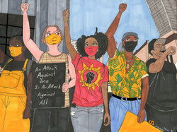 """""""BLM Protesters"""" by Jacqueline Cousins Oliva"""