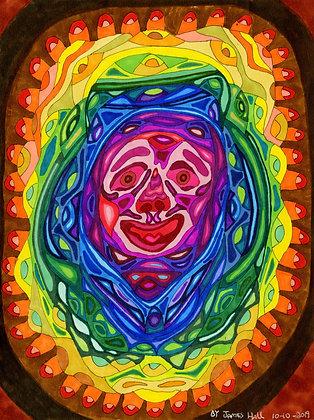 """""""Rainbow Face"""" by James Hall"""