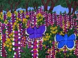 """""""Butterflies in a Flower Field"""" by Blake Lenoir"""