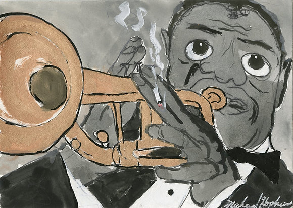 """""""Louis Armstrong"""" by Michael Hopkins"""