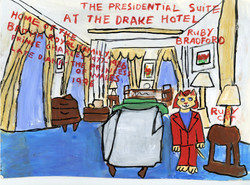"""""""Ruby Cat Visits the Presidential Suite at the Drake Hotel"""""""