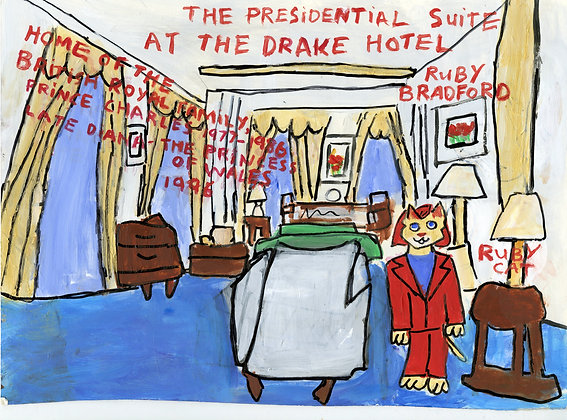 """Ruby Cat Visits the Presidential Suite at the Drake Hotel"""
