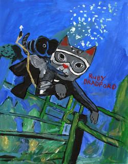 """""""Scuba Cat"""" by Ruby Bradford"""
