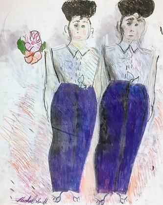 """Purple Pants Twins"" by Michael Smith"