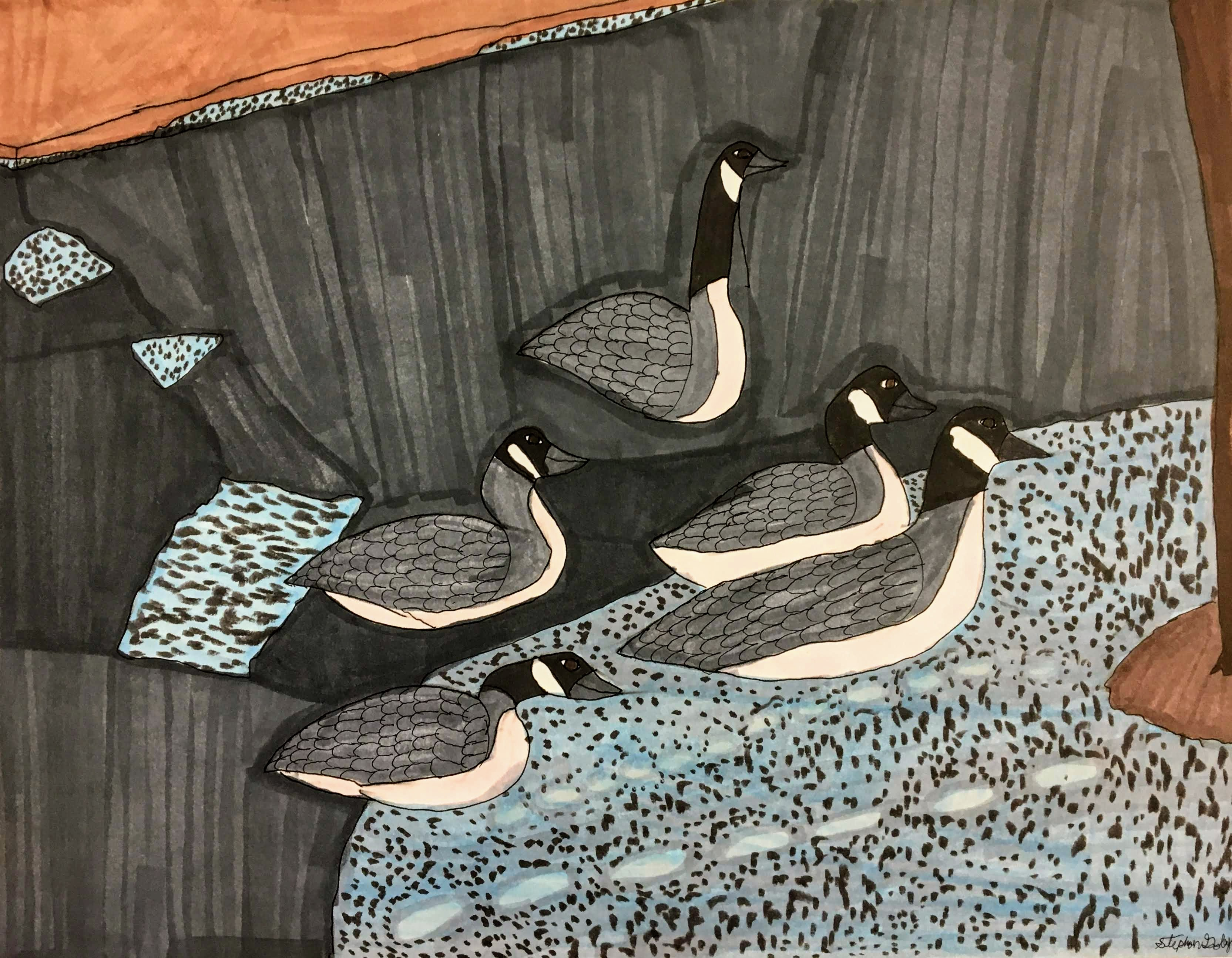 """""""Geese"""" by Stephon Doby"""