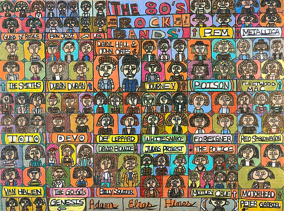 """""""The 80's Rock Bands"""" by Adam Hines"""