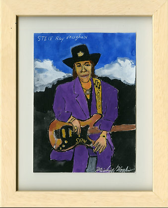 """Stevie Ray Vaughn"" by Michael Hopkins"