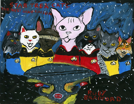 """Star Trek Cats"" by Ruby Bradford"